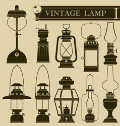 Vintage lamp I vector image