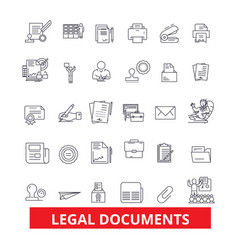Legal documents archive deed record papers vector