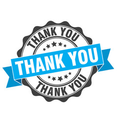 Thank you stamp sign seal vector