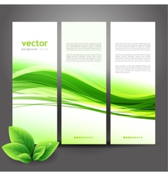 Abstract nature ecology background vector