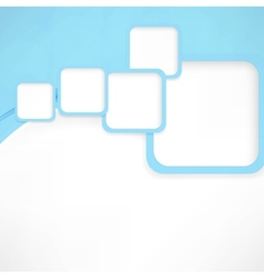 Abstract wavy background with blue squares vector image