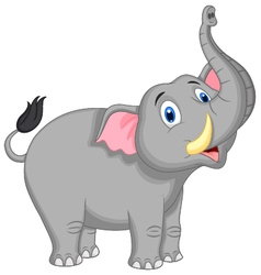 Cute elephant cartoon vector