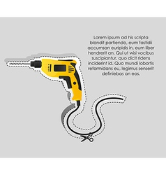 Label of a drill with cutting lines vector image