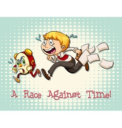 Idiom race against time vector