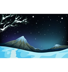 Nature scene during the winter time vector