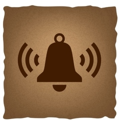 Ringing bell icon vector