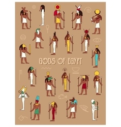 Gods of egypt vector