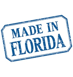 Florida - made in blue vintage isolated label vector