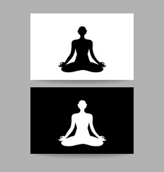 Yoga lotos sign template vector