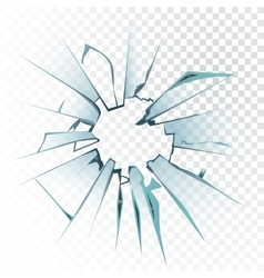 Accidentally broken frosted window pane or vector image