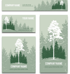 Business cards and brochure template design vector image