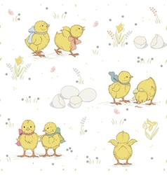 Chicken pattern vector image