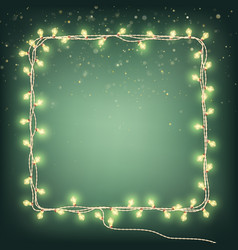 christmas garland lights holiday background eps vector image