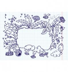 dandelion frame vector image vector image