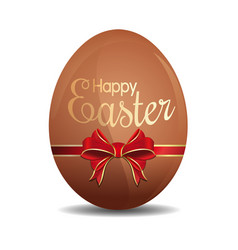 Easter egg tied with a red ribbon and bow vector