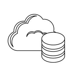 Figure database optimization server banner icon vector