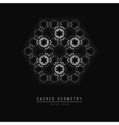 Flower of Life Sacred Geometry Symbol Harmony vector image