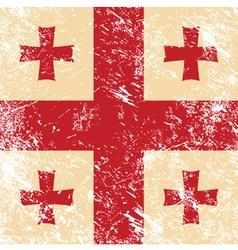 Georgia retro flag vector image vector image
