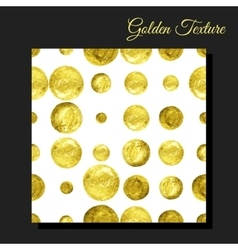 Golden glitter seamless background vector image vector image