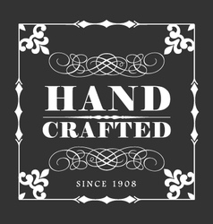Handcrafted decorative frame label vector