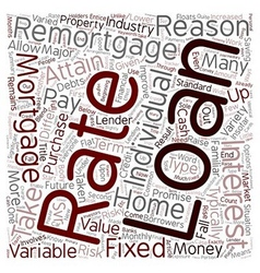 How remortgages work text background wordcloud vector