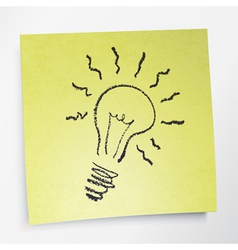 idea symbol on sticky yellow paper vector image