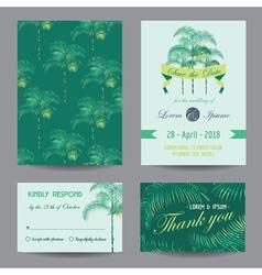 Invitation-Congratulation Card Set vector image vector image