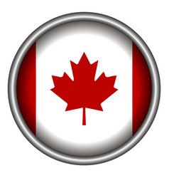 Isolated canadian badge vector