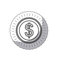 Isolated coin design vector image vector image