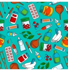 Medications seamless background wallpaper vector image vector image