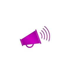 Megaphone icon Flat design style vector image vector image