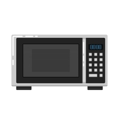 Microwave oven isolated on white background vector