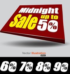 Midnight sale banner vector