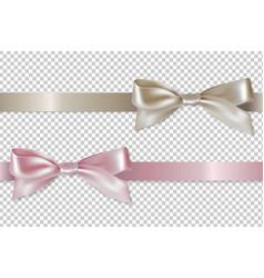 Pastel ribbons set vector