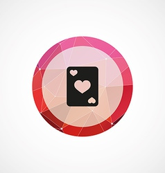 poker circle pink triangle background icon vector image vector image
