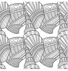Seamless pattern with decorative sea shells for vector