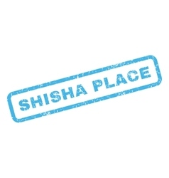 Shisha place rubber stamp vector