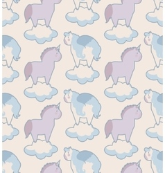 simple seamless pattern with Unicorn and Pegasus vector image