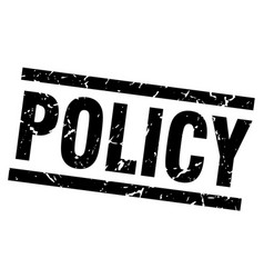 Square grunge black policy stamp vector