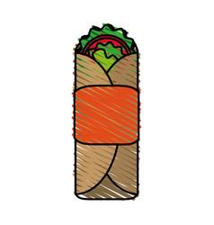 Tacos food doodle vector