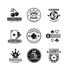 vintage gambling casino poker royal tournament vector image vector image