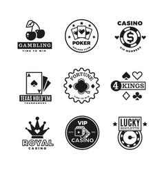 vintage gambling casino poker royal tournament vector image