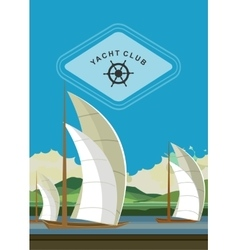 Yacht club flyer vector