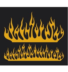 burn flame vector image