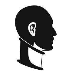 Cervical collar icon simple style vector