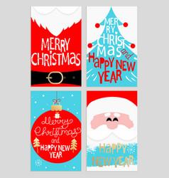 Santas message banners vector