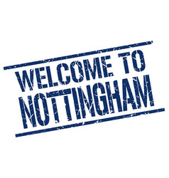 welcome to nottingham stamp vector image
