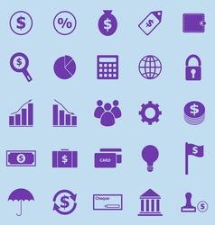 Finance violet icons on blue background vector image