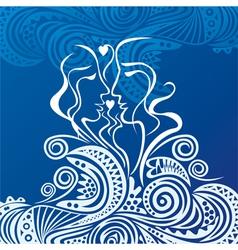 Beautiful sea and love vector