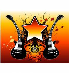 star guitars vector image